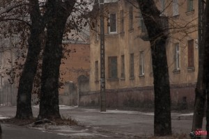 Старые дома Новолипецка напротив скверика Крупской