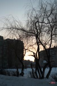 Закат возле 70-й школы в Липецке