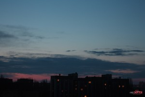 Восход в Липецке, фото на Индустар-61Л/З, вкуснофотки, пейзаж